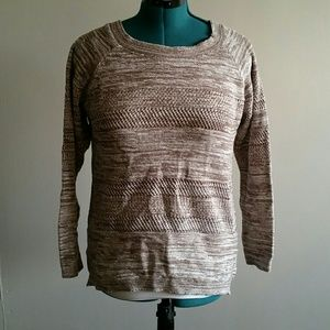 BUNDLE GUC tan and brown heathered sweater